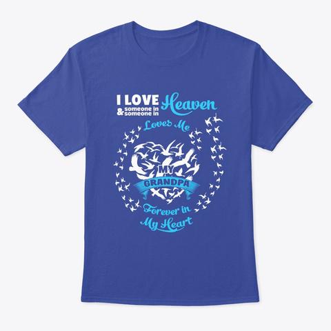 Guardian Angel Grandpa Shirt Deep Royal T-Shirt Front