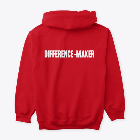 #52 Devotionals I Am A Difference Maker  Red Maglietta Back