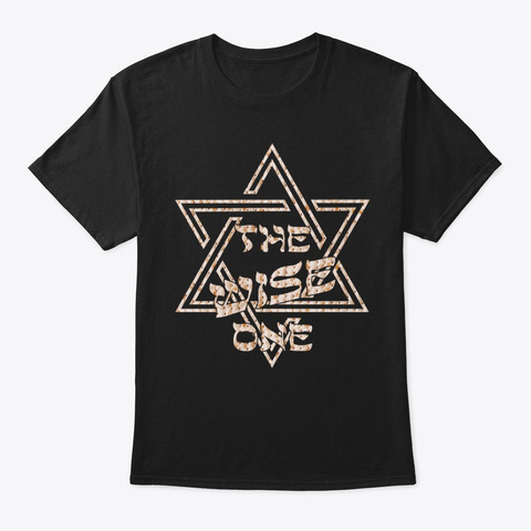 Passover The Wise One Jew Funny Star Of Black T-Shirt Front