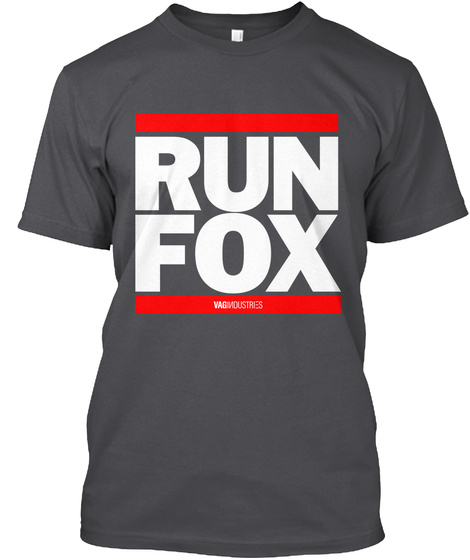 Indstrs   Run Fox Charcoal T-Shirt Front