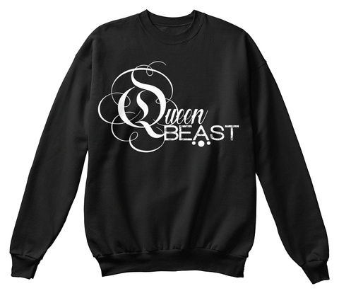 Queen Beast Black T-Shirt Front