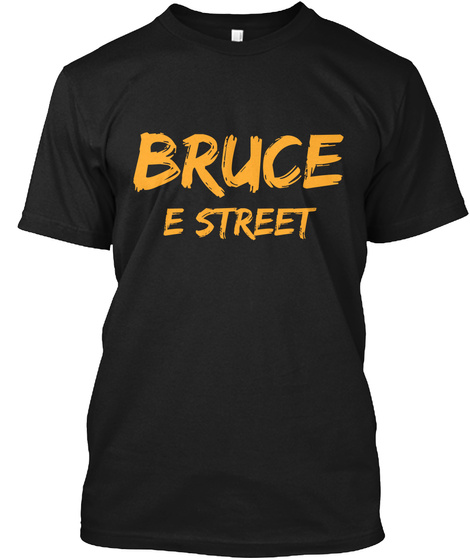 Bruce E Street Black T-Shirt Front