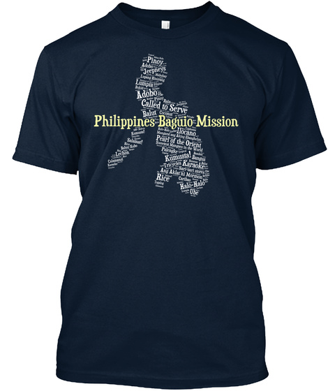 Philippines Baguio Mission New Navy T-Shirt Front