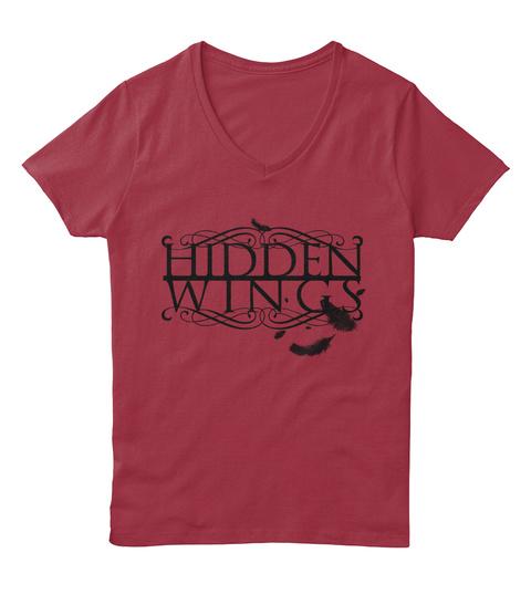 Hidden Wings Deep Red  T-Shirt Front