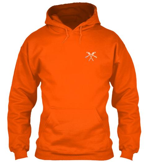 Awesome Lineman Shirt Safety Orange T-Shirt Front