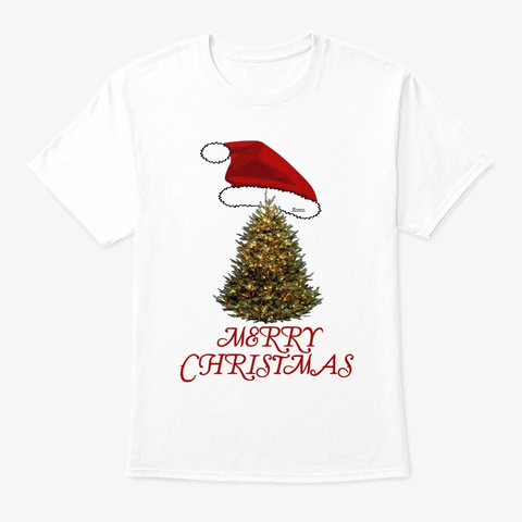 Merry Christmas   Xmas Tee Shirt White T-Shirt Front