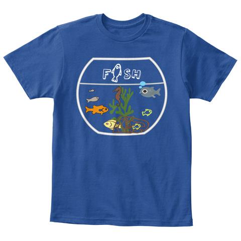 F    Sh Deep Royal  T-Shirt Front