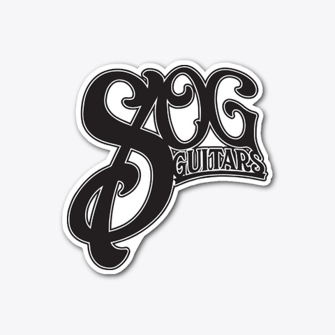 "Sog Guitars Stickers 4"" (Die Cut) Standard T-Shirt Front"