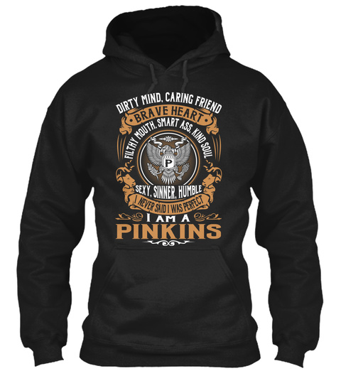 Pinkins Black T-Shirt Front