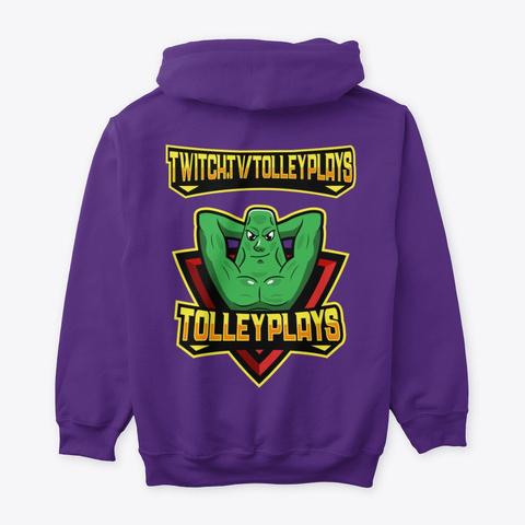 Lewd Hoodie Purple T-Shirt Back