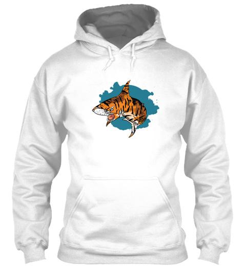 Tiger Shark Mixed Animals T Shirt Design White T-Shirt Front