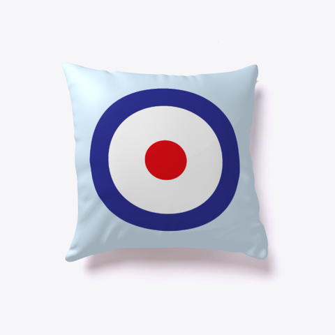 Blunt Target  Pillow Pale Blue T-Shirt Front