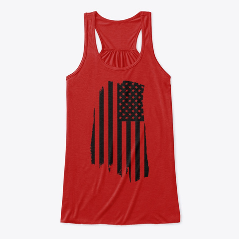 American Flag Tank Red T-Shirt Front