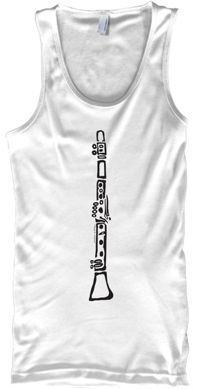 Clarinet (Tank) White T-Shirt Front
