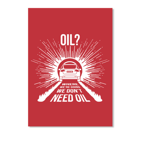 Oil? X Sticker [Usa] #Sfsf Bright Red Sticker Front