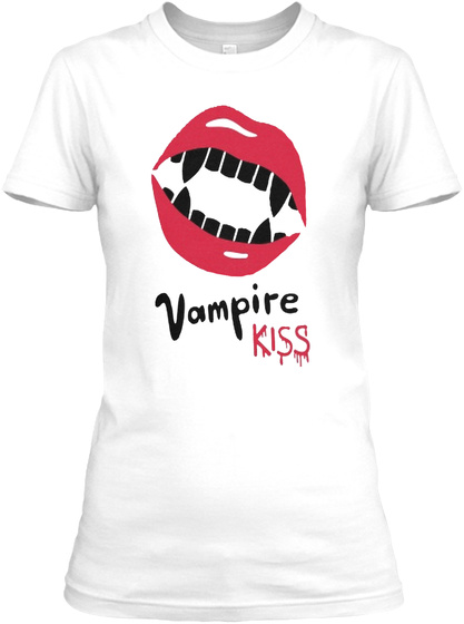 Vampire Kiss White T-Shirt Front