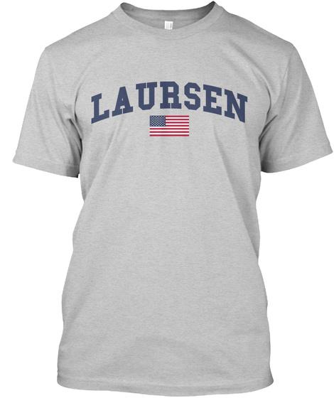 Laursen Family Flag Light Steel T-Shirt Front