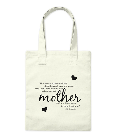 Mom Quote #Mothers Day2017 Natural Tote Bag Front