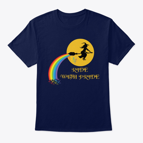 Ride With Pride Navy T-Shirt Front