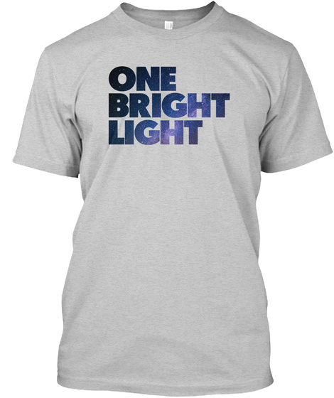 Cancer Sucks. Be A Bright Light (Stars). Light Steel T-Shirt Front