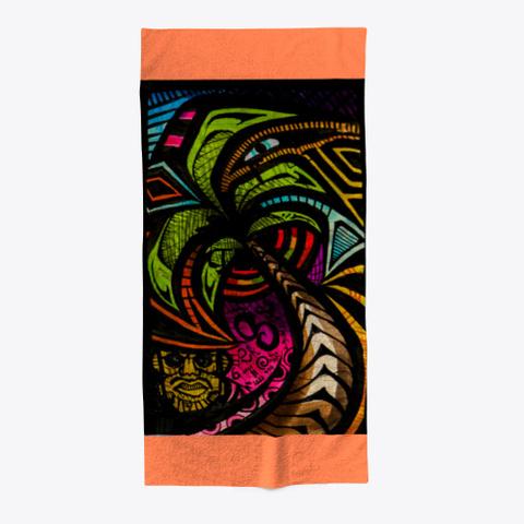 Palma E Vida By Atumaqi Art Coral T-Shirt Front