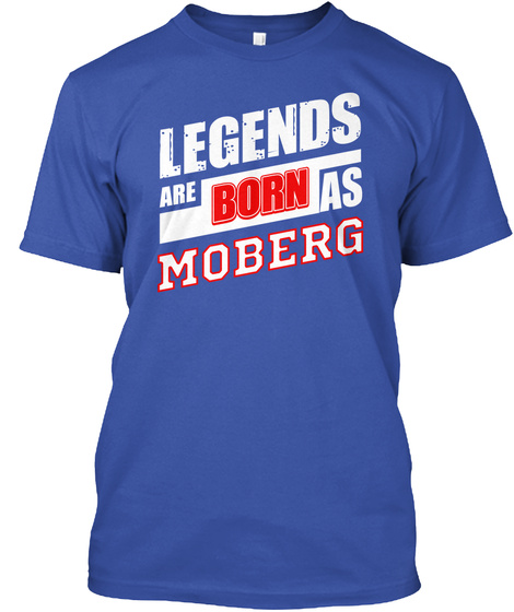 Legends Moberg Family Name Royal T-Shirt Front