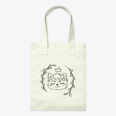 Forest Kitty Tote Natural T-Shirt Front