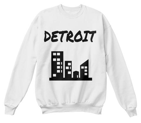 Detroit White  Sweatshirt Front