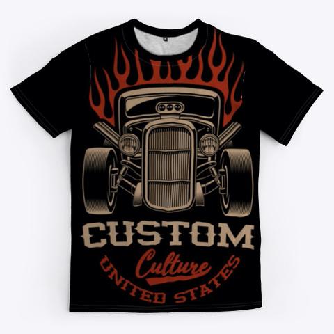 Hot Rod Custom Black T-Shirt Front
