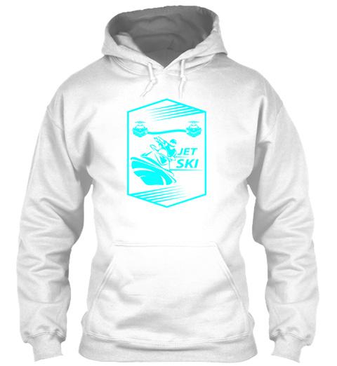 Jet Ski Holiday Sport Gift White T-Shirt Front
