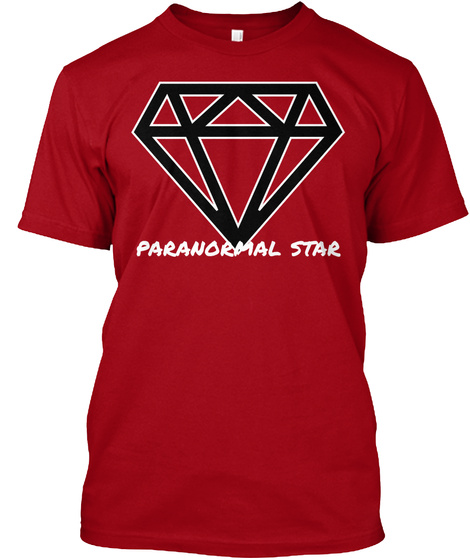 Paranormal Star Deep Red T-Shirt Front