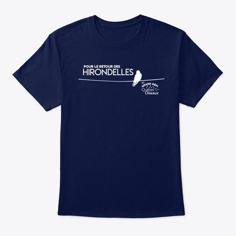 Pour Le Retour Des Hirondelles Navy T-Shirt Front