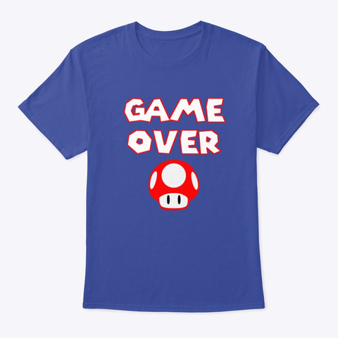 'game Over' Deep Royal T-Shirt Front