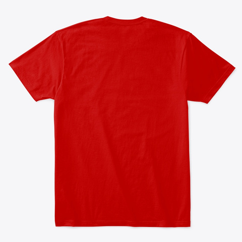 Rowdy Classic Red T-Shirt Back