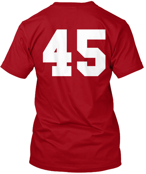 45 Deep Red Kaos Back