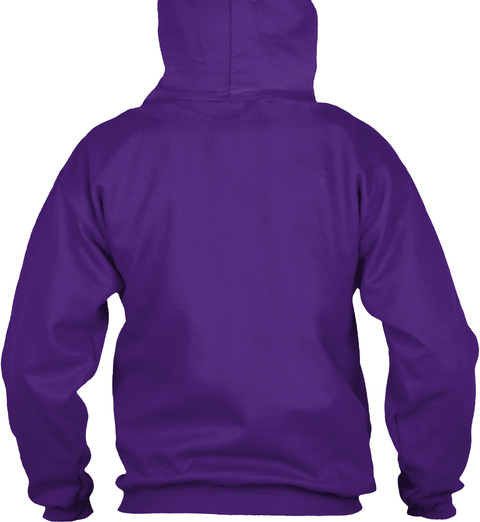 No Fun Allowed Hoodie (Us) Purple Sweatshirt Back