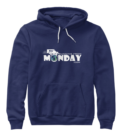 Running From Monday.Com Navy T-Shirt Front