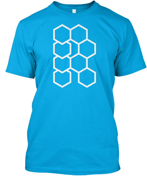 Hex R Turquoise T-Shirt Front