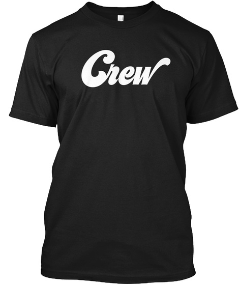 Crew Black T-Shirt Front