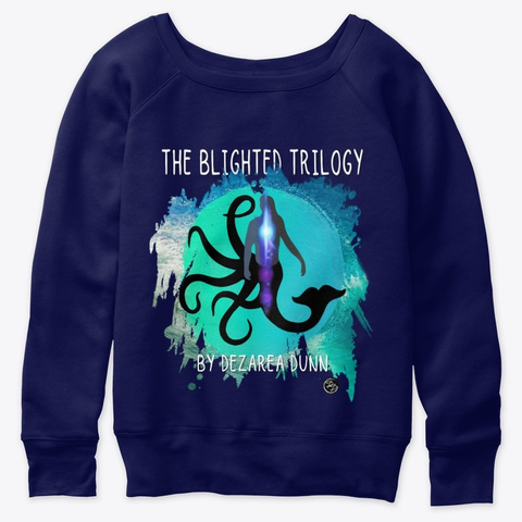 """The Blighted Trilogy"" Top Navy  Maglietta Front"