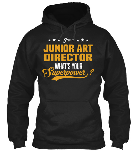 Junior Art Director Black T-Shirt Front