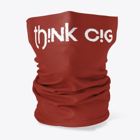 T Hi Nk Ci G Apparel Dark Red T-Shirt Front