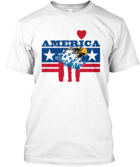 Great American White T-Shirt Front
