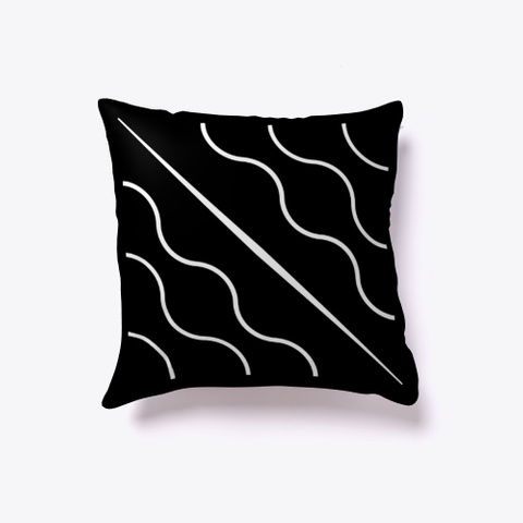 Indoor Pillow: Chladni Plate Black T-Shirt Front