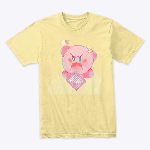 Kirby Eats Launchpad Banana Cream T-Shirt Front