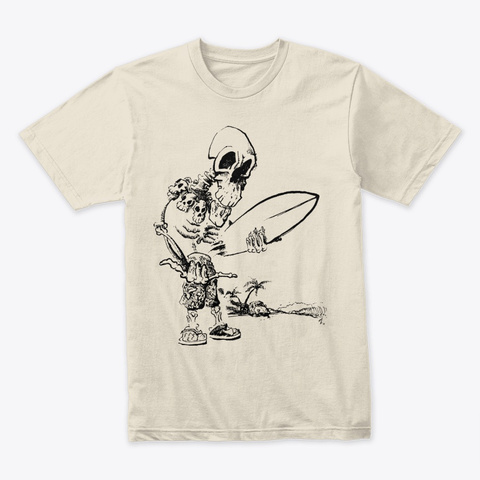 Surfer Brah Cream T-Shirt Front