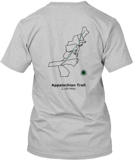 Appalachian Trail 2,189 Miles Light Heather Grey  T-Shirt Back