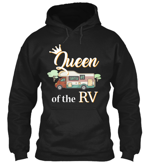 Queen Of The Rv Black T-Shirt Front