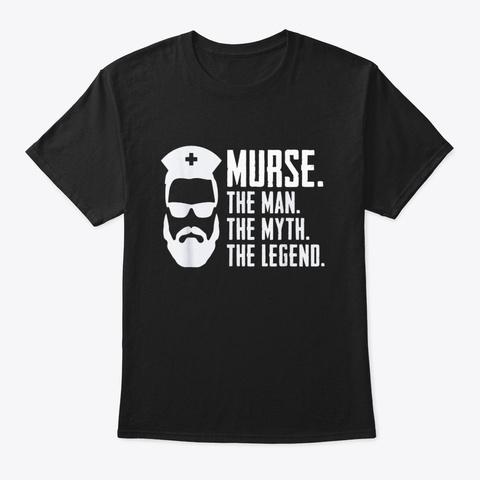 Mens Funny Murse Male Nurse Shirt Rn Lpn Black T-Shirt Front