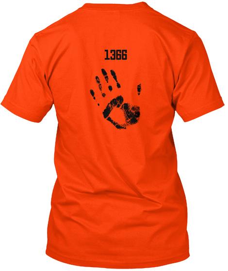 1366 Orange T-Shirt Back